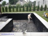 Напыление жидкой резины - бассейн
