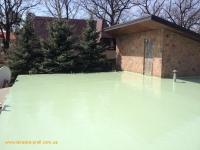 Гидроизоляция жидкой резиной салатового (зелёного) цвета