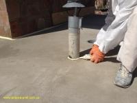 Герметизация примыканий полиуретановым герметиком Гиперсил