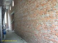 Стена перед побелкой