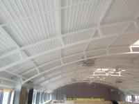 Покраска потолка из металла