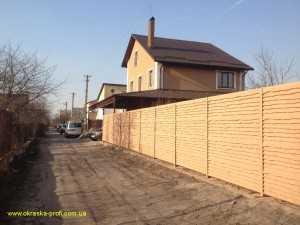 Забор после покраски