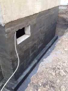 Подготовка поверхности - шпаклевание фундамента - 1