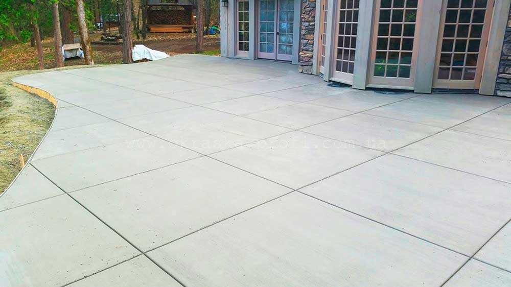 Деформационные швы в бетоном полу - патио