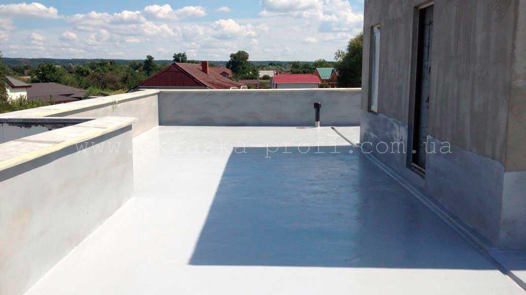 Крыша после гидроизоляции Гипердесмо