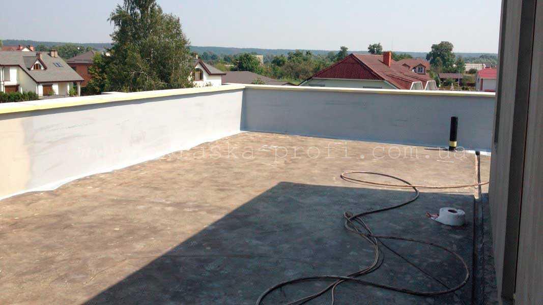 Крыша до гидроизоляции Гипердесмо