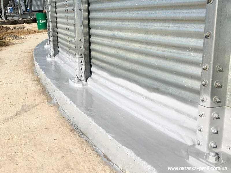 Гидроизоляция примыкания силос-фундамент